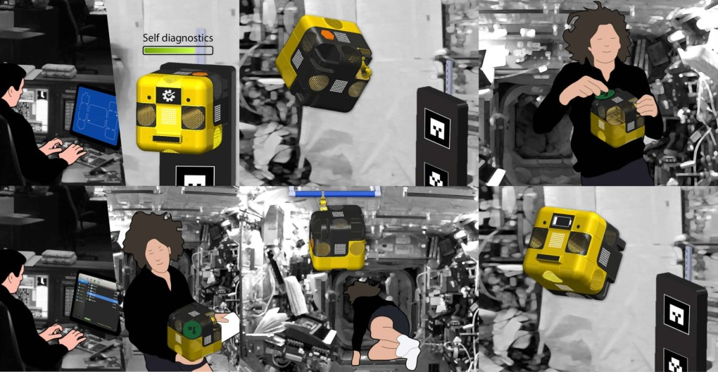 NASA Astronaut Robot Assistant Robot Concept Scenario, UI Graphic Design